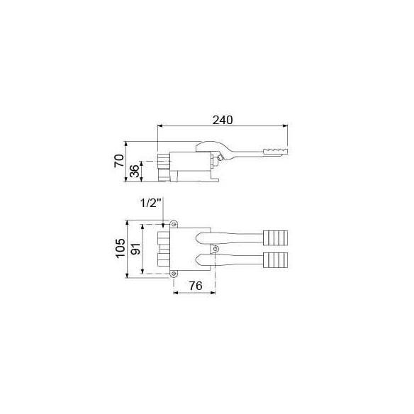 Grifo mezclador agua fria/caliente dos pedales-Z044542915