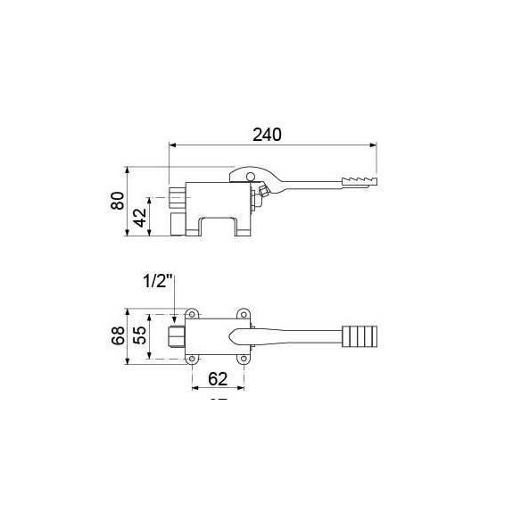 Grifo de agua fría con pedal-Z044542914
