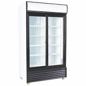 Armario expositor refrigerado 2 puertas cristal correderas CSD1000-Z087CSD1000