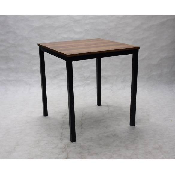 Mesa de bar cuadrada 70 x 70 cm Troya - Patas negras-Z052MESABAJATROYA70X70