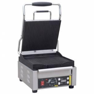 Grill de contacto individual Buffalo platos estriadas-Z093L501