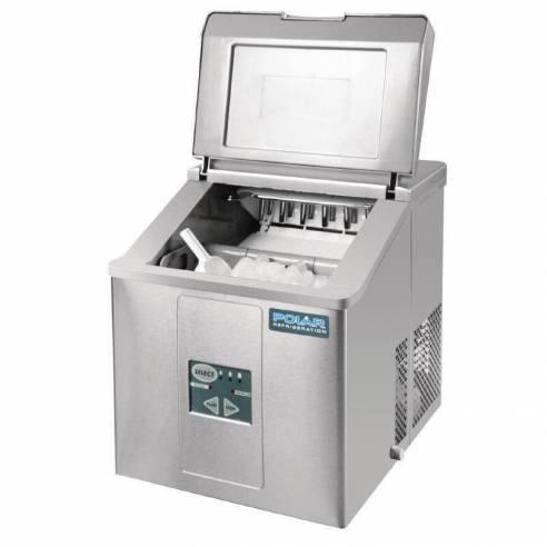 Máquina de hielo sobre mostrador producción 15kg al día Polar