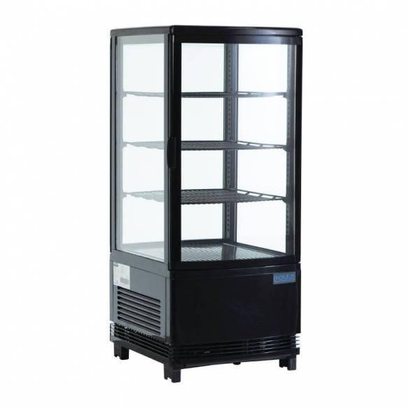 Expositor refrigerado negro 68L Polar