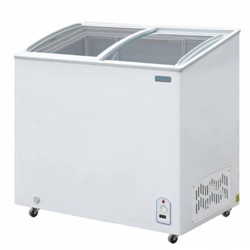 Arcón congelador Polar tapa vidrio 200Ltr R600a
