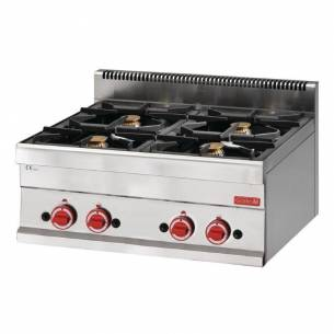 Cocina gas Gastro M 650 4 quemadores 65/70 PCG