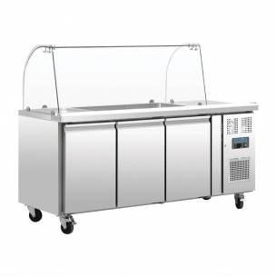 Mostrador frigorífico preparación Polar GN 3 puertas con pantalla