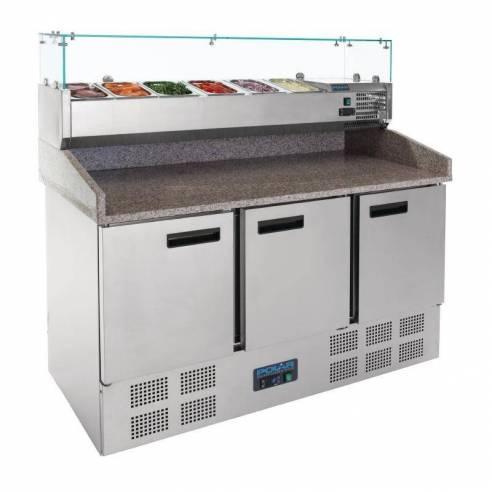 Mostrador preparación Polar ensaladas/pizzas 3 puertas