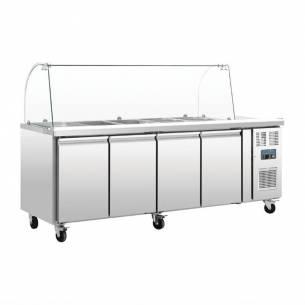 Mostrador frigorífico preparación Polar GN 4 puertas con pantalla