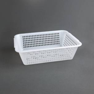 Escurridor rectangular Vogue polietileno blanco 83(Al)x272x200mm