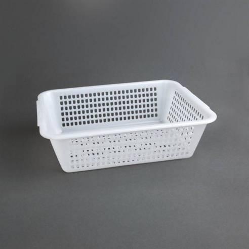 Escurridor rectangular Vogue polietileno blanco 272 x 198mm-Z093CW356