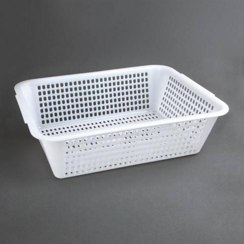 Escurridor rectangular Vogue polietileno blanco 357 x 270mm-Z093CW353