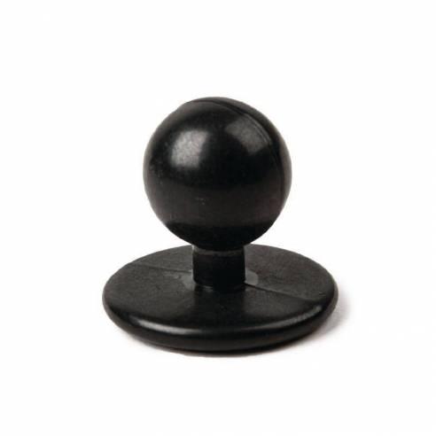 Juego de botones bola Whites negros (Pack de 12)-Z093A016