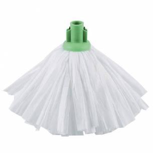 Fregona blanca Jantex anclaje verde-Z093GK871