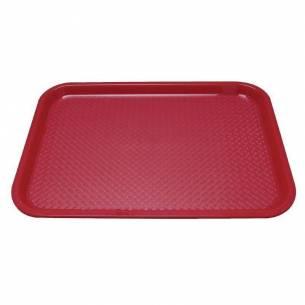 Bandeja de plástico para fast food Kristallon mediana roja-Z093P504