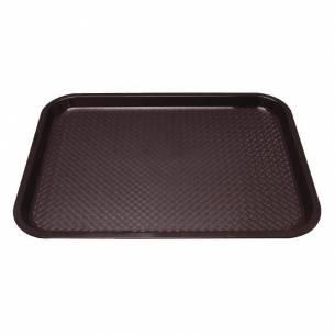 Bandeja de plástico para fast food Kristallon grande marrón-Z093P509