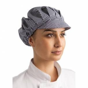 Sombrero con visera a cuadros azul y blanco Whites