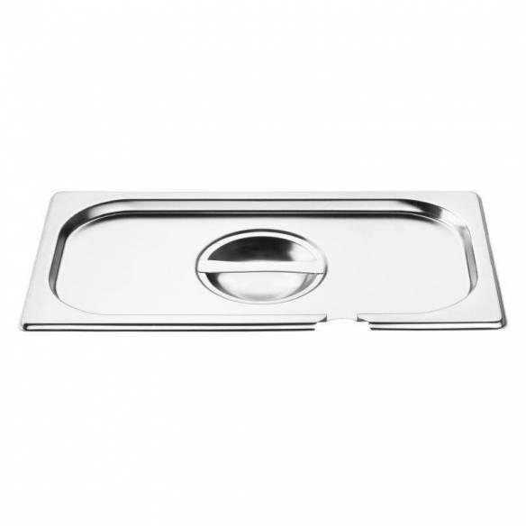 Tapa Gastronorm acero inoxidable con abertura tamaño un tercio Vogue-Z093CB173