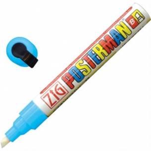Marcador Posterman resistente al tiempo punta de 6mm Azul claro Securit
