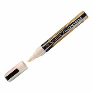 Marcador para pizarra de tiza punta de 6mm Blanco Securit