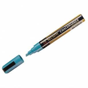 Marcador para pizarra de tiza punta de 6mm Azul Securit