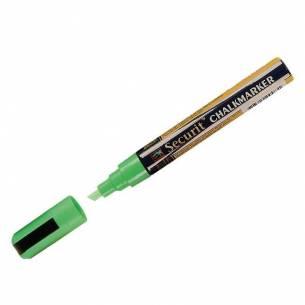Marcador para pizarra de tiza punta de 6mm Verde Securit