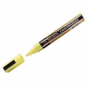 Marcador para pizarra de tiza punta de 6mm Amarillo Securit