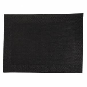Mantel individual Olympia PVC negro-Z093GG042