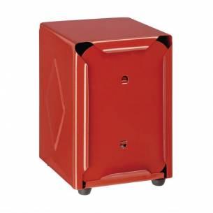 Dispensador servilletas Olympia doble cara rojo 120(Al)x90x107mm