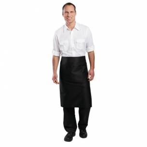 Delantal camarero normal Whites negro-Z093B133