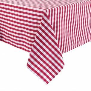 Mantel Mitre Comfort Gingham cuadros rojo/blanco poliéster 890 x 890mm
