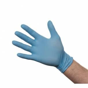 Guantes de nitrilo sin polvo azules S (Pack de 100)-Z093Y478-S