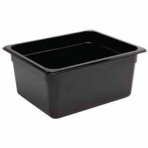 Contenedor Gastronorm policarbonato tamaño medio 150mm negro Vogue