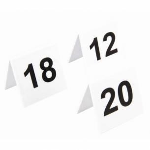Juego de números para las mesas de plástico Olympia 11-20-Z093L982