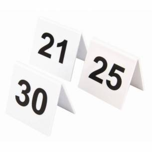 Juego de números para las mesas de plástico Olympia 21-30-Z093L983