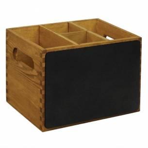 Caja de madera Olympia con lado de pizarra-Z093GM243