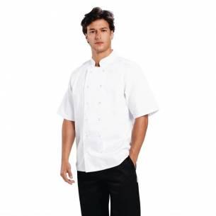 Chaqueta cocina Boston manga corta blanca - talla L