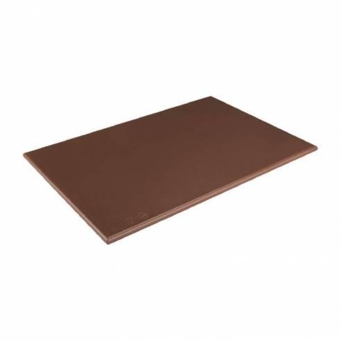 Tabla de cortar estándar Hygiplas alta densidad marrón-Z093J004