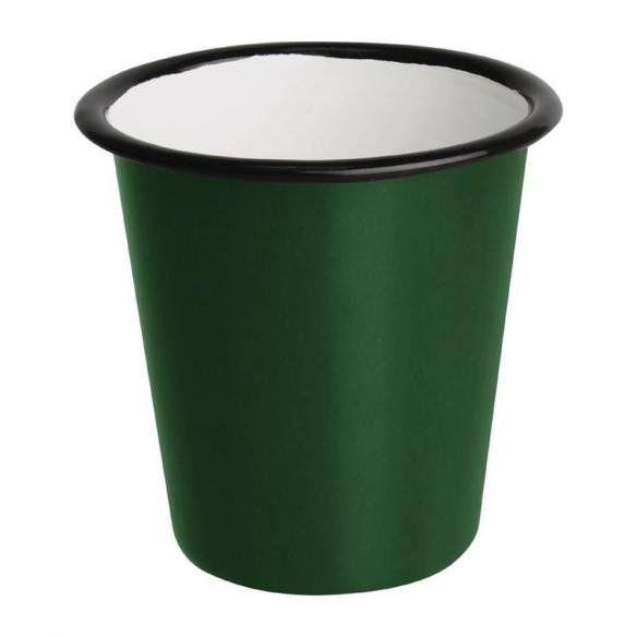 Vaso esmaltado Olympia verde-negro 310ml-Z093DC392