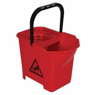 Cubo de fregona con código de color Jantex rojo-Z093S222