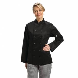 Chaqueta de cocina manga larga Vegas negra Whites M-Z093A438-M