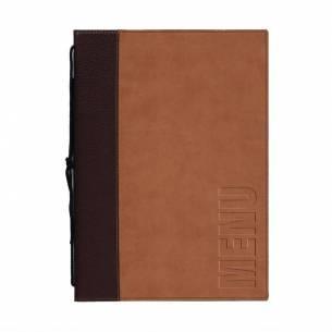 Portamenús contemporáneos Securit A5 marrón-Z093H722