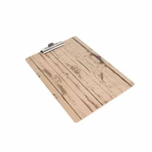 Sujeta-menú clip A4 efecto madera color claro-Z093GM300