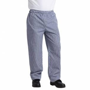 Pantalón Vegas cuadros pequeños blanco y azul poli algodón XS-Z093B311-XS