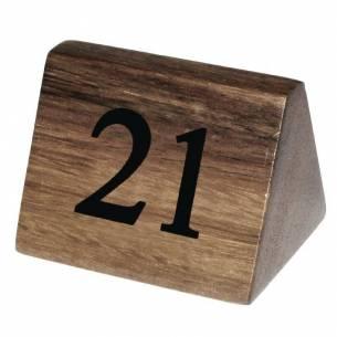 Números para mesa Olympia madera 21-30 (Pack de 10)-Z093CL298