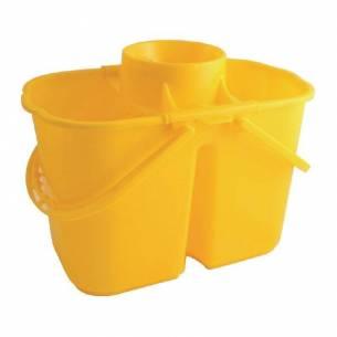 Cubos de fregona codificados por colores dobles Jantex amarillos-Z093CD503