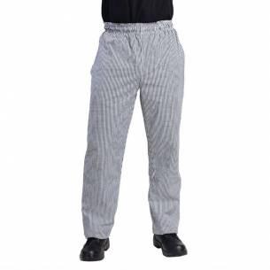 Pantalones Vegas a cuadros pequeños negros y blancos S-Z093DL712-S