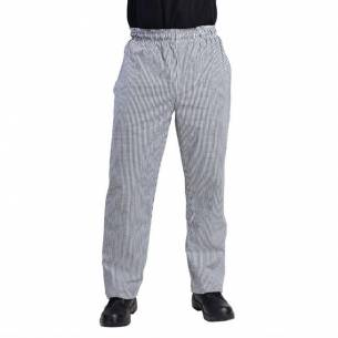 Pantalones Vegas a cuadros pequeños negros y blancos XXL-Z093DL712-XXL
