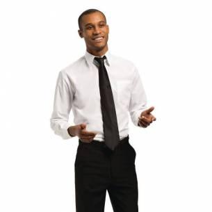 Camisa unisex manga larga blanca Uniform Works-Z093A730-L
