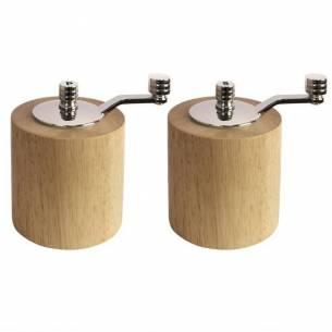 Juego de molinillo de pimienta y sal de bambú Olympia-Z093CE246