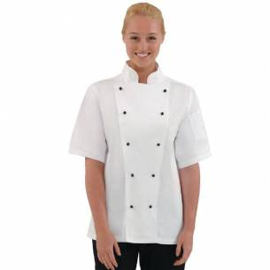 Chaqueta cocina Chicago manga corta blanca Whites-Z093DL711-M